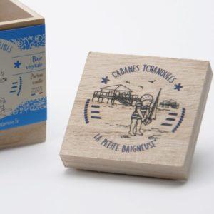"""Boîte carré """"Cabanes Tchanquées"""""""